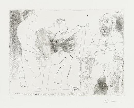 Pablo Picasso - PEINTRE AU TRAVAIL