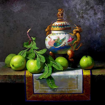 Carle Shi - Vase with apples