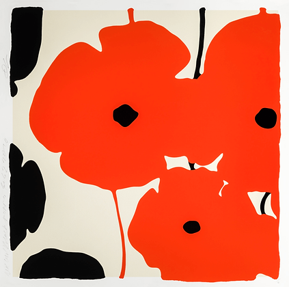 Donald Sultan - RED & BLACK POPPIES, FEB 3 2020