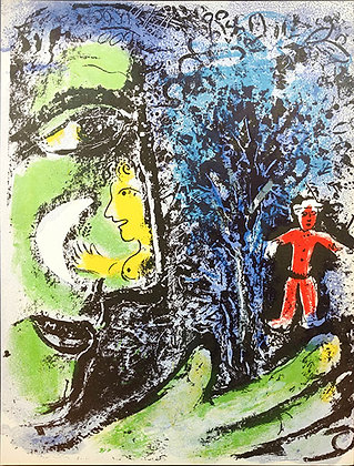 Marc Chagall - Profile and Red Child