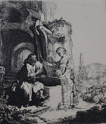 Rembrandt Harmensz Van Rijn - Christ and the Woman of Samaria: Among Ruins