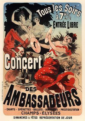 Jules Chéret - Concert des Ambassadeurs