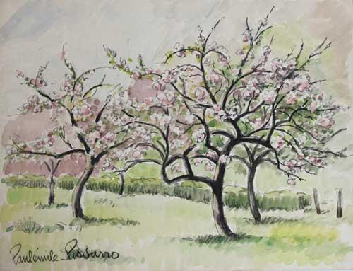 Paulémile Pissarro - Pommiers en Fleurs