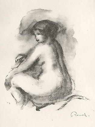 Pierre Auguste Renoir - Étude de Femme Nue Assise