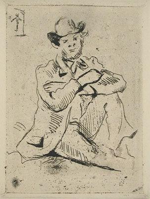 Paul Cézanne - Portrait de Peinture Armand Guilluamin au Pendu