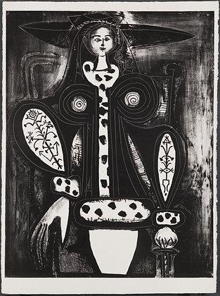 Pablo Picasso - La Femme au fauteuil (from the black plate of M. 133)