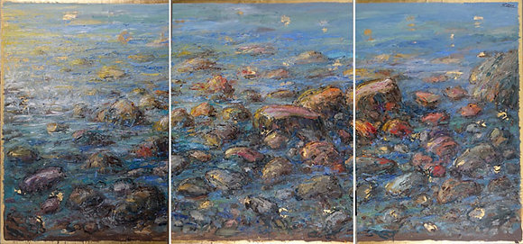 Bruno Zupan - Triptych: Rocks and Sea