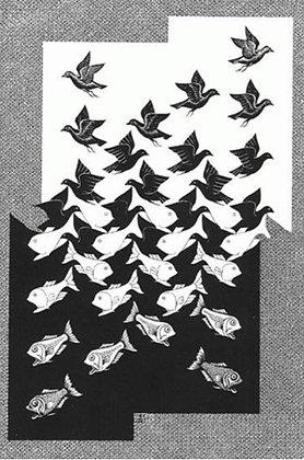 Maurits Cornelis Escher - Sky and Water II