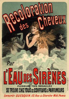 Jules Chéret - L'Eau des Sirènes