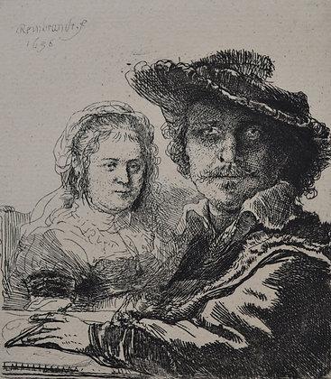 Rembrandt Harmensz Van Rijn - Self Portrait with Saskia