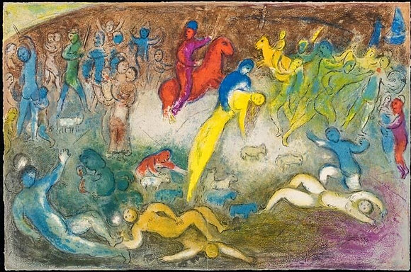 Marc Chagall - Chloe is Carried Off by the Methymneans