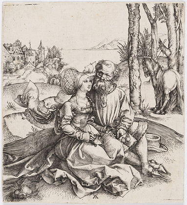 "Albrecht Dürer - The Ill-Assorted Couple (or ""The Promise of Love)"