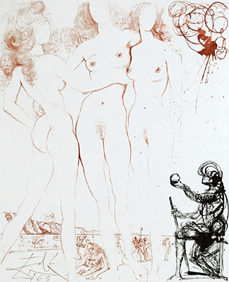 Salvador Dalí - The Judgment of Paris