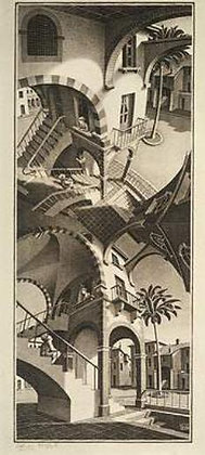 Maurits Cornelis Escher - Up and Down