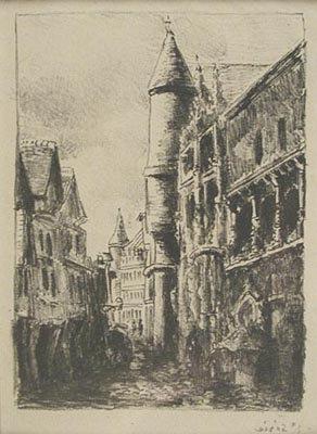 Camille Pissarro - Rue Saint-Romain, A Rouen (2e planche)