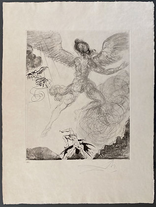Salvador Dalí - Flight and Fall of Icarus