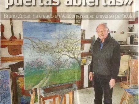 Bruno Zupan interviewed in Mallorca's Ultima Hora Newspaper