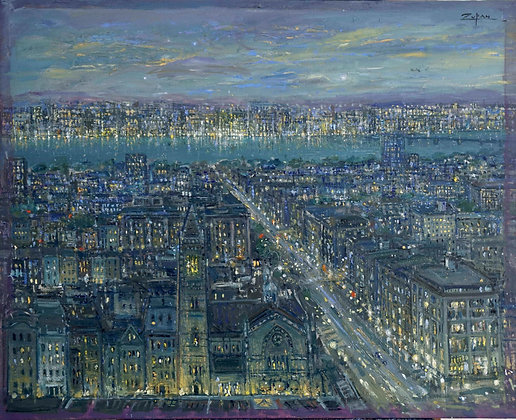 Bruno Zupan - View over Old South Church, View to Cambridge