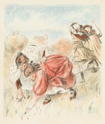 Pierre Auguste Renoir - Enfants Jouant a la Balle
