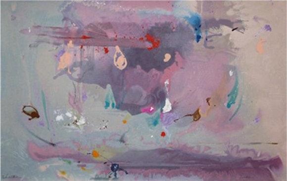 Helen Frankenthaler - Grey Fireworks