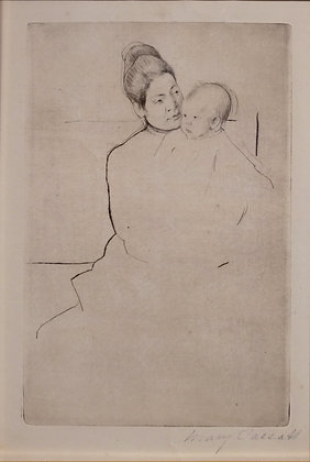 Mary Cassatt - Gardner Held by His Mother
