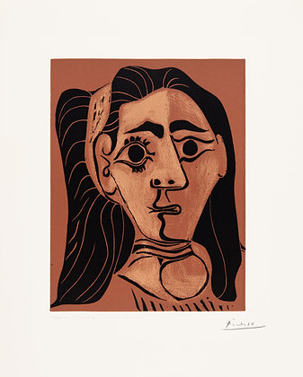 Pablo Picasso - Jacqueline in Headband II (Woman with Flowing Hair)