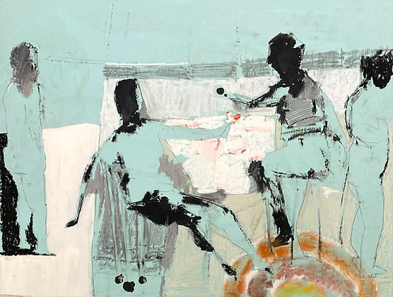 Stanley Boxer - Untitled Figure Study (92D-60)