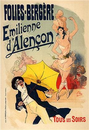 Jules Chéret - Emilienne d'Alencon