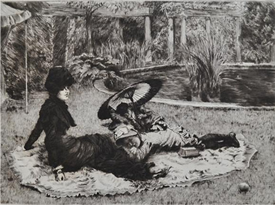 James Jacques Joseph Tissot - Sur l'herbe