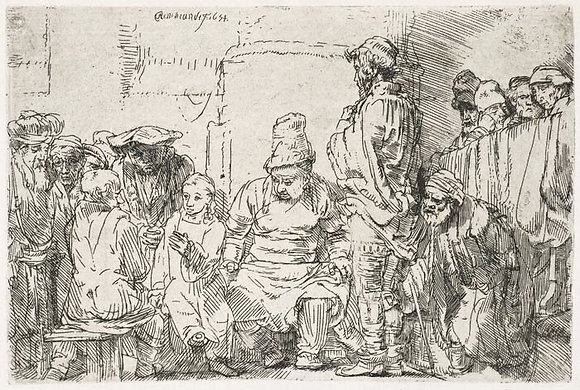 Rembrandt Harmensz Van Rijn - Christ Seated Disputing with the Doctors