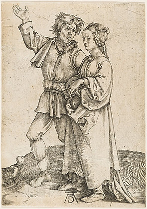 Albrecht Dürer - Rustic Couple (A Peasant and his Wife)