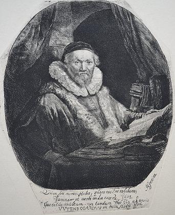 Rembrandt Harmensz Van Rijn - Jan Uytenbogaert, Preacher of the Remonstrants