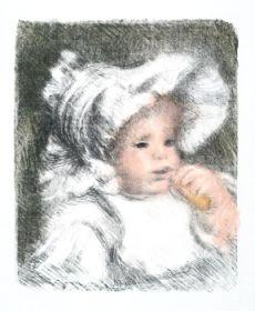 Pierre Auguste Renoir - L'Enfant au Biscuit (Jean Renoir)