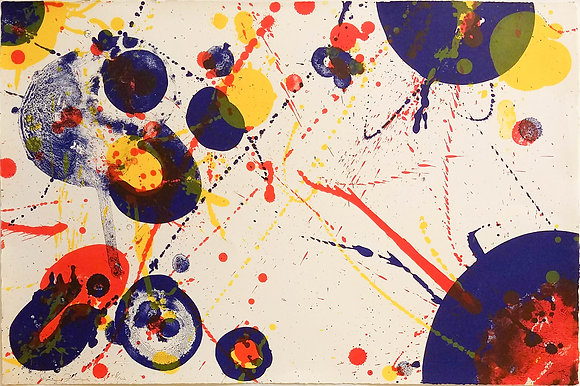 Sam Francis - Untitled, Plate 7 from The Pasadena Box Series