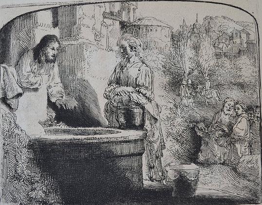 Rembrandt Harmensz Van Rijn - Christ and the Woman of Samaria