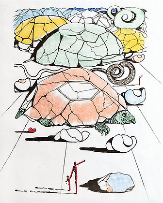 Salvador Dalí - Study for Turtle Mountains