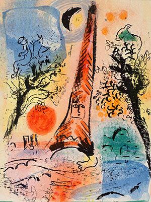 Marc Chagall - Vision de Paris
