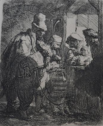 Rembrandt Harmensz Van Rijn - The Strolling Musicians