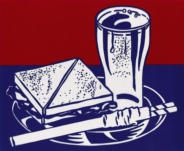 """Roy Lichtenstein, """"Sandwich & Soda"""""""