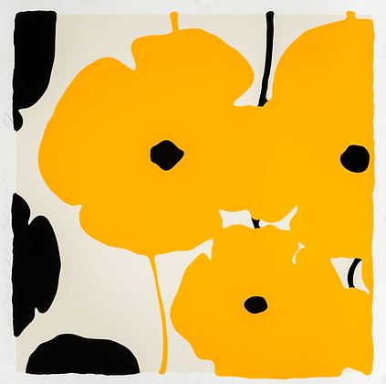 Donald Sultan - YELLOW & BLACK POPPIES, FEB 3 2020