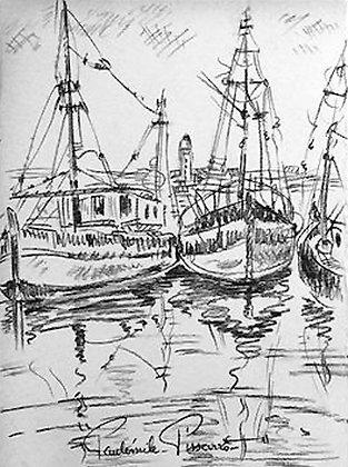 Paulémile Pissarro - Bateaux