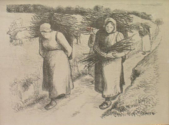 Camille Pissarro - Woman Carrying Sticks