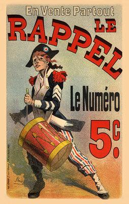 """Jules Chéret - Journal """"Le Rappel"""""""
