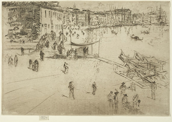 James Abbott McNeill Whistler - The Riva, No. 2