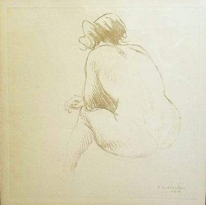 Theophile-Alexandre Steinlen - Femme Nue (A Nude Woman)