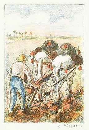 Camille Pissarro - La Charrue (The Plow)