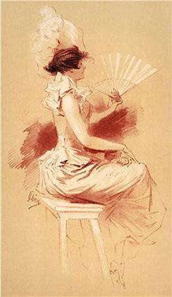 Jules Chéret - Woman with Fan