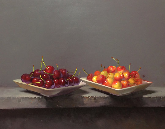 Carle Shi - Two Plates of Cherries
