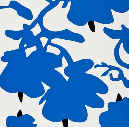 Donald Sultan - BLUE AND WHITE, FEB 10, 2017