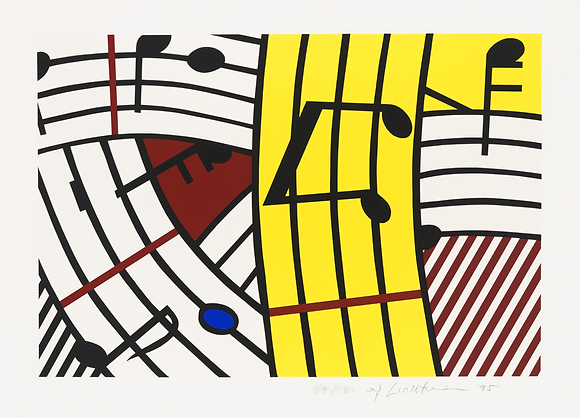 Roy Lichtenstein - Composition IV